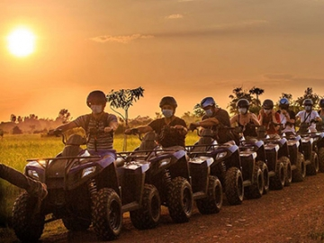 Quad Bike Adventure - Sunset on The Paddy Field